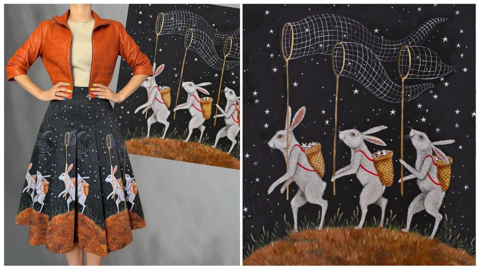 Юбка Марья (Ловцы звёзд), стоимость 4900₽. Джинса. Жакет Ангелина, стоимость 4900₽. Экокожа