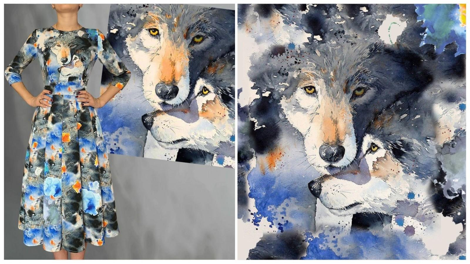 Платье Злата (Волки), стоимость 7900₽.