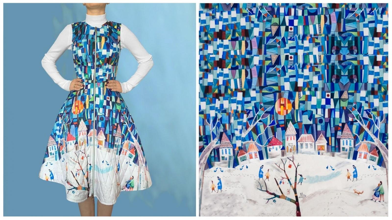 Платье Роза, стоимость 7500₽. Стоимость водолазки 1850₽
