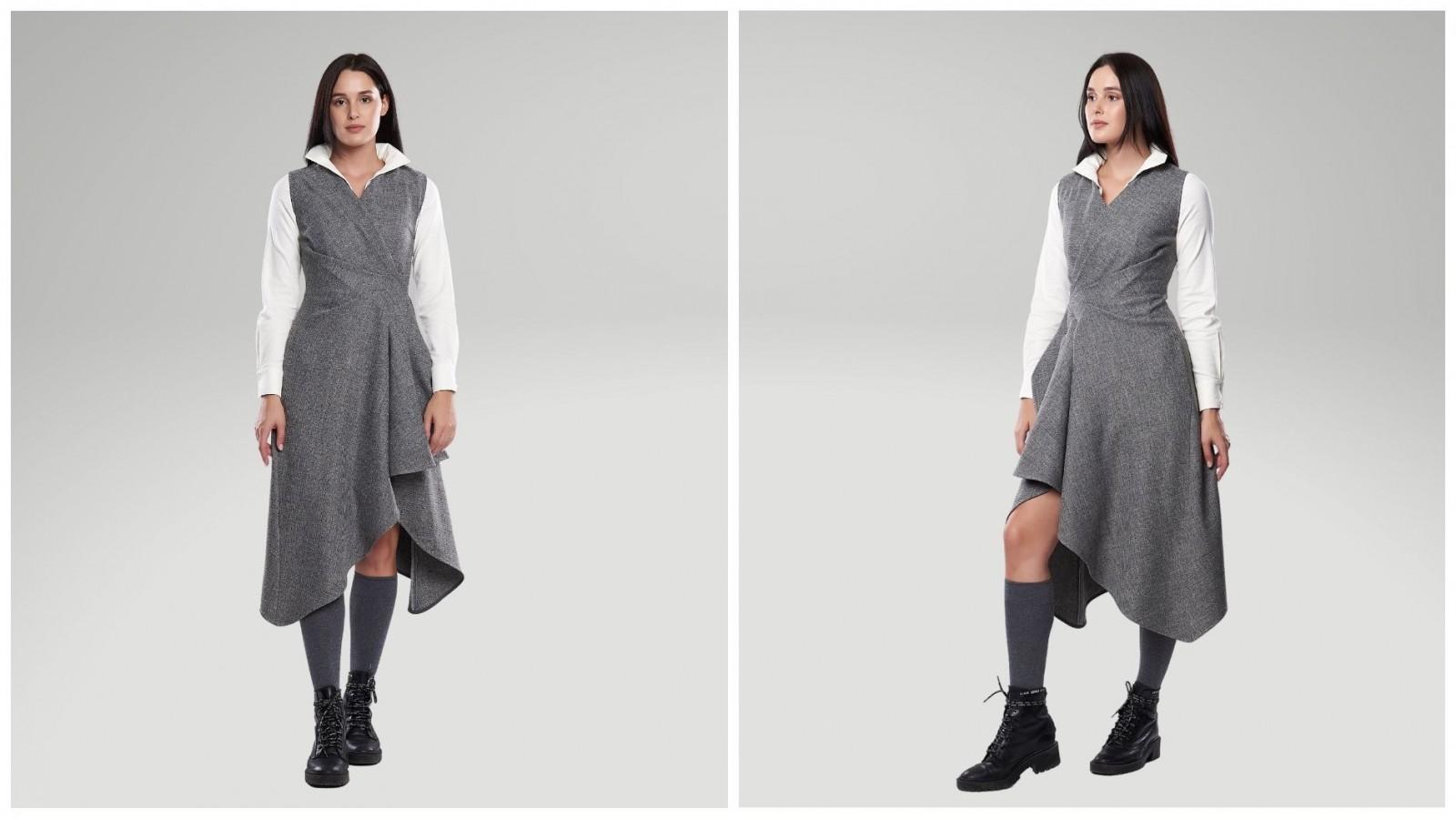 Платье Художница, стоимость 7900₽. Блузка в комплекте.