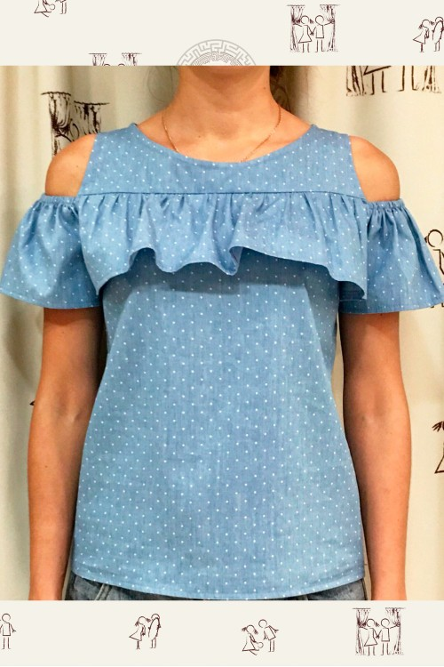 Блузка Анжелика (Горошек)