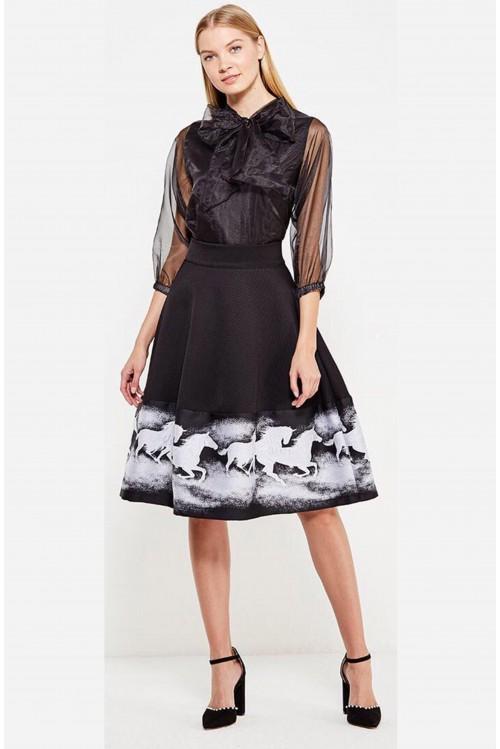 Блузка Бант (черный)