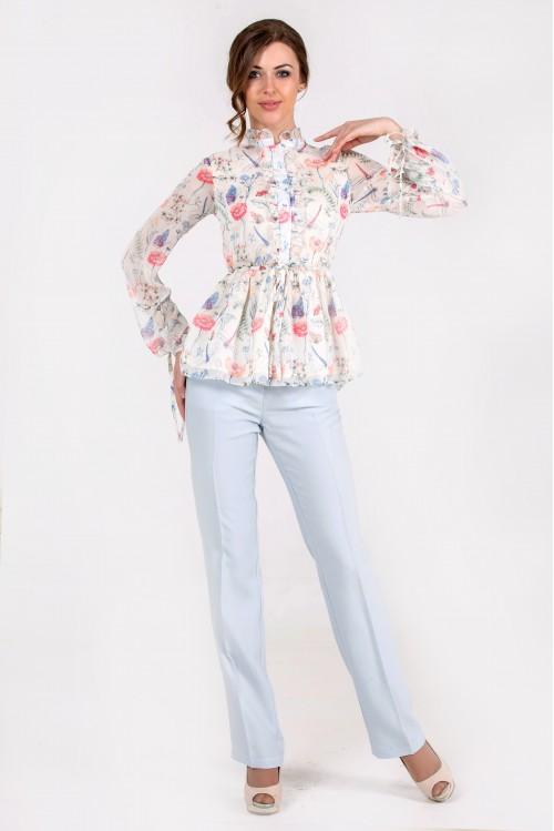 Блузка Ирина (Цветы)