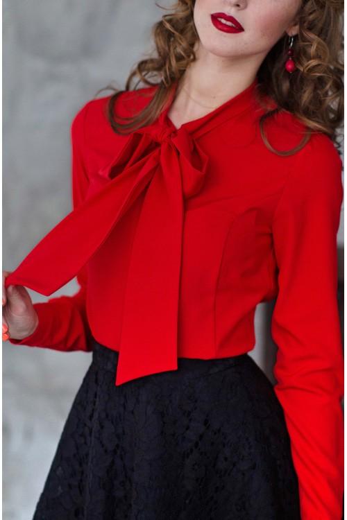 Блузка Леопольд (красный)