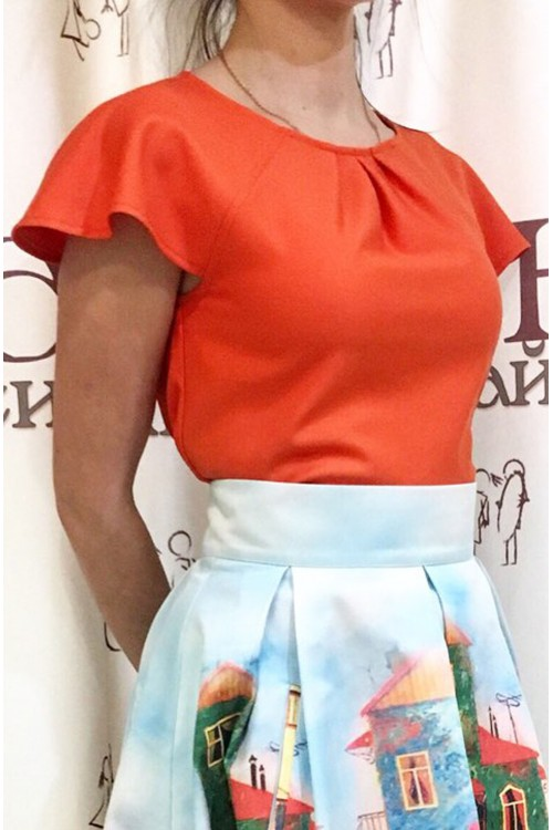 Блузка Лия (оранжевый)
