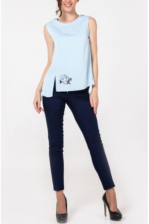 Блузка Мина (голубой)