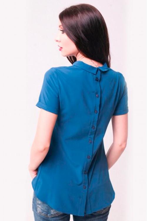 Блузка Ника (синий)