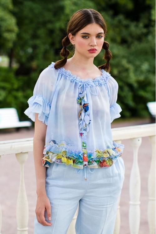 Блузка Романтика из нежного шёлка