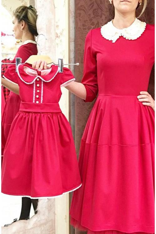 Платье Колокол (красный)