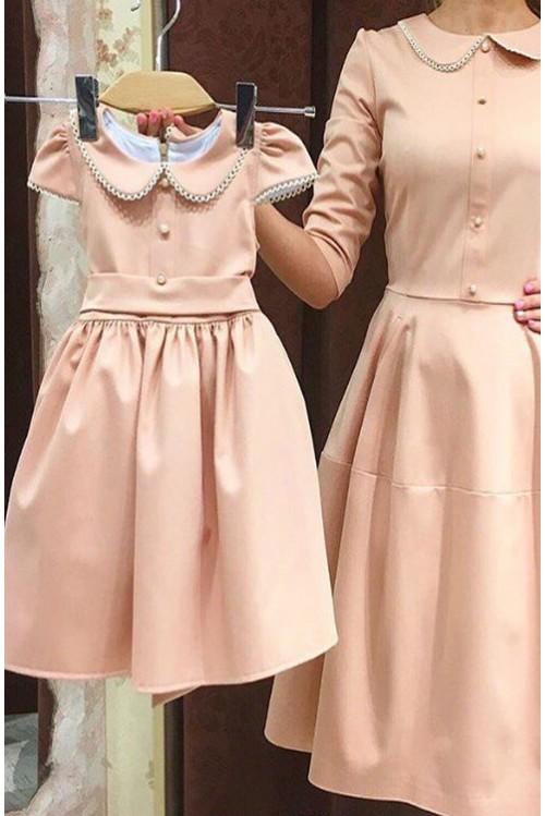 Платье Колокол (розовое)