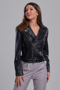 Куртка-косуха из экокожи чёрная