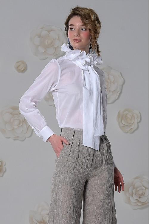 Блузка Моржана из воздушной вуали белая
