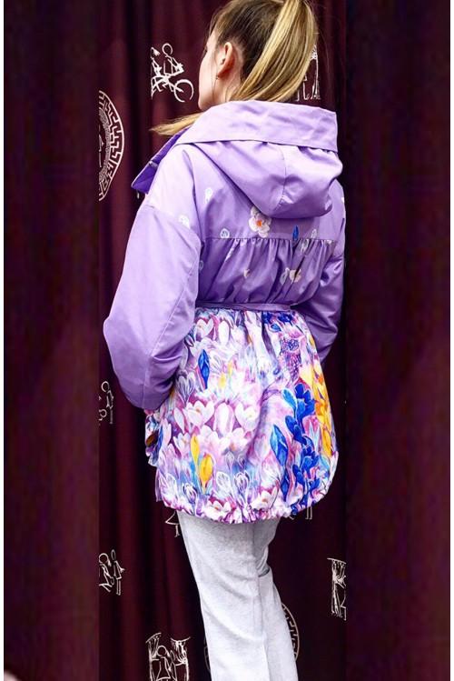 Куртка Мери (Весенние цветы и птица)