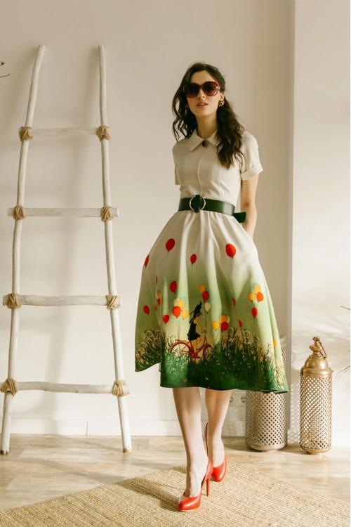 Платье Марина (Девочка на велосипеде)