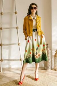 Куртка-косуха из экокожи ярко-жёлтая