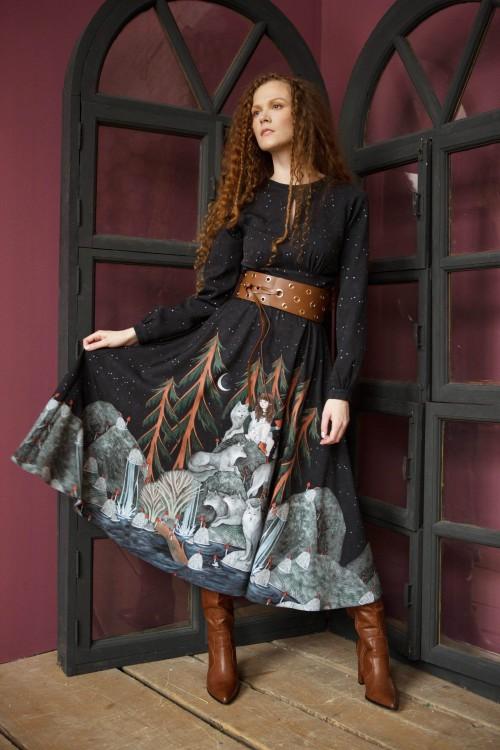 Платье Людмила 2 (Одинокие волчицы) из вискозы