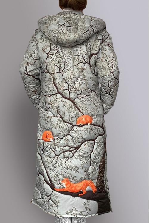 Пуховик Пушок  (Лисы на древе)