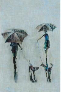 Принт Встреча под дождем