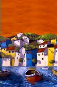 Принт Город у воды