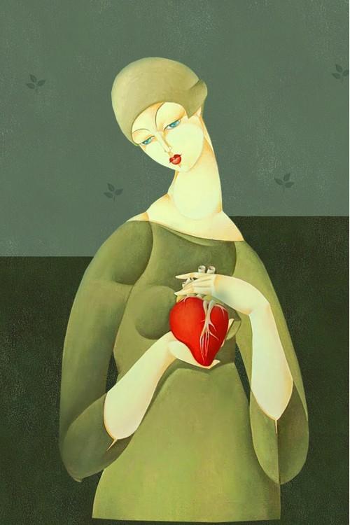 Принт Сердце в руках