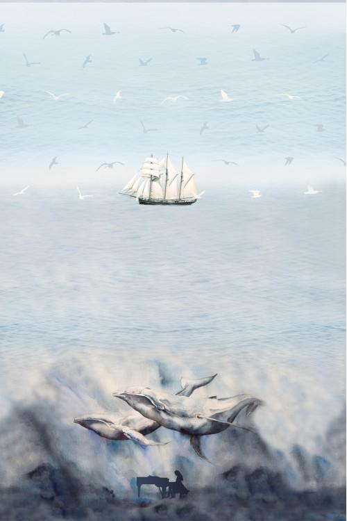 Принт Музыка океана