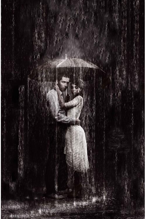 Принт Под дождем 2