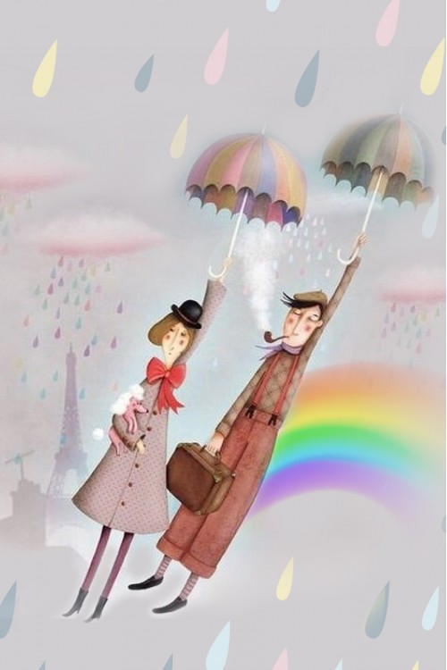 Принт Под дождём