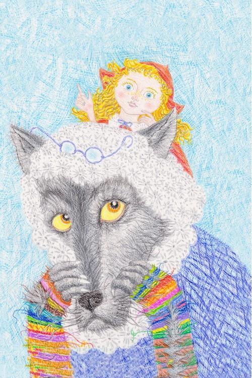 Принт Волк и красная шапочка