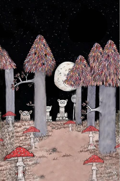 Принт Волшебный лес