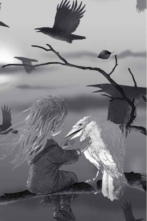 Принт Белая ворона