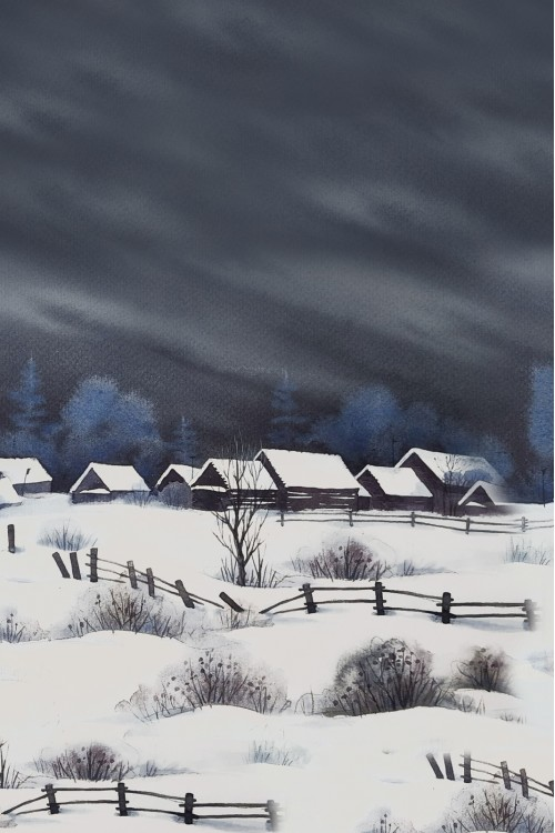 Принт Долгая зима