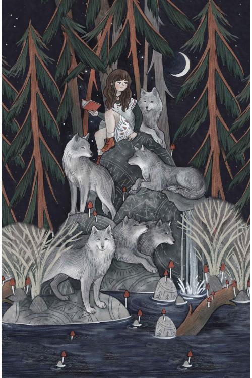 Принт Одинокие волчицы