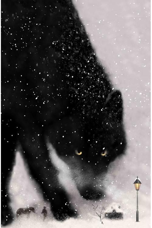 Принт Волк