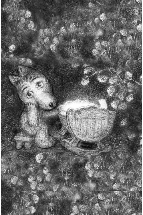 Принт Волчонок