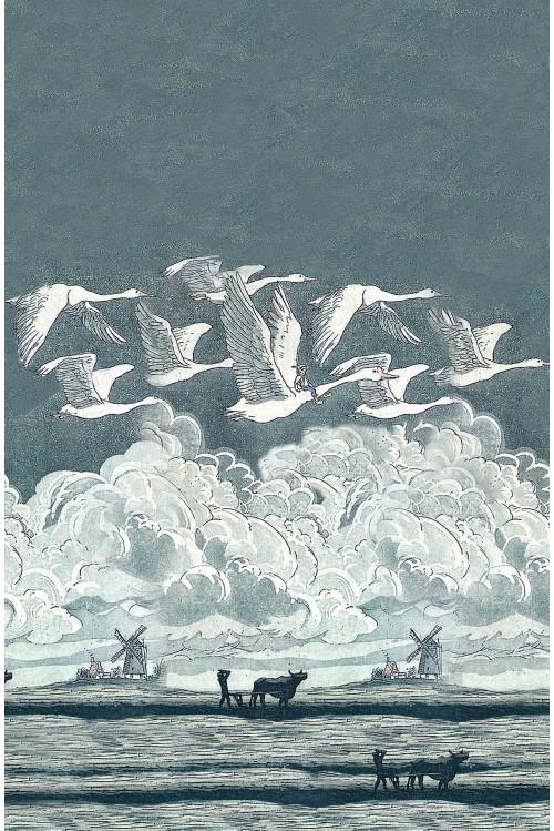 Принт Гуси-лебеди