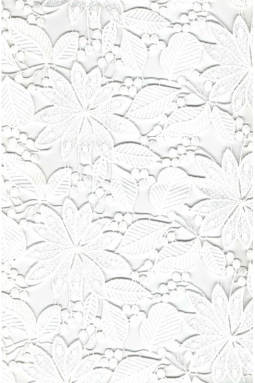 Шитье белый цветы