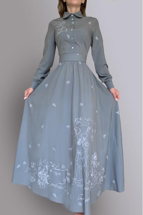 Платье Алевтина ( Серое лето/Пушкин)