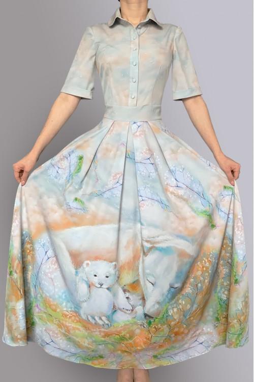 Платье Алевтина 3 (Весенние медведи)