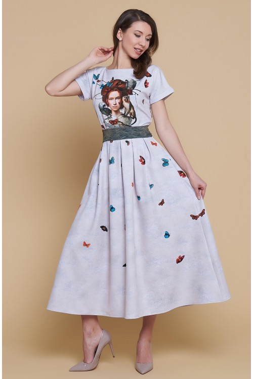 Платье Аленка (Девочка и бабочки)