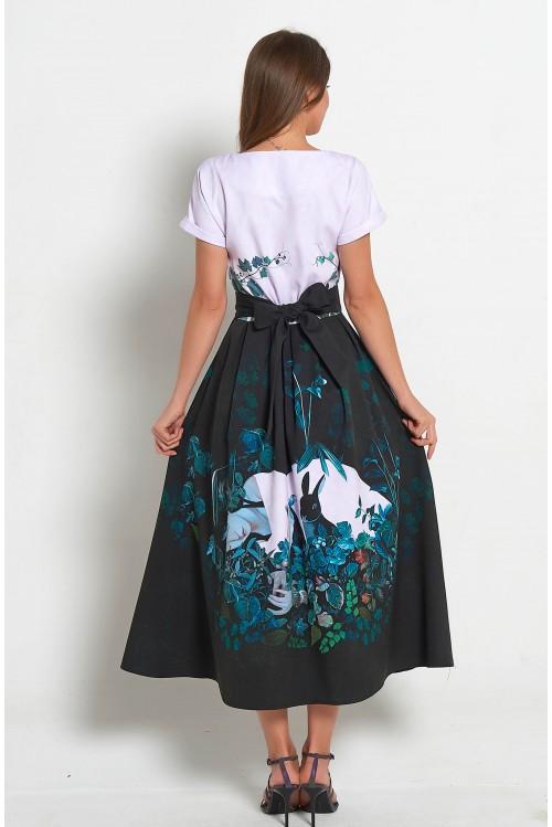Платье Аленка (Два черных зайца)