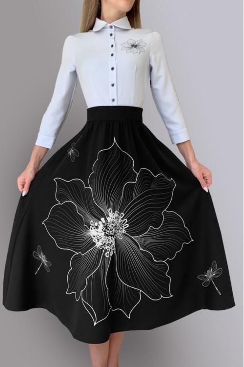 Платье Алевтина 2 (Белый цветок)