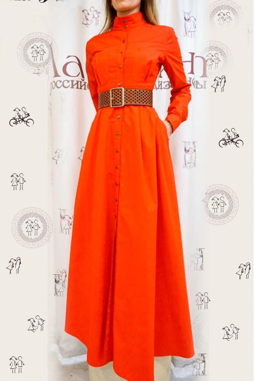 Платье Ангелина (оранжевый)