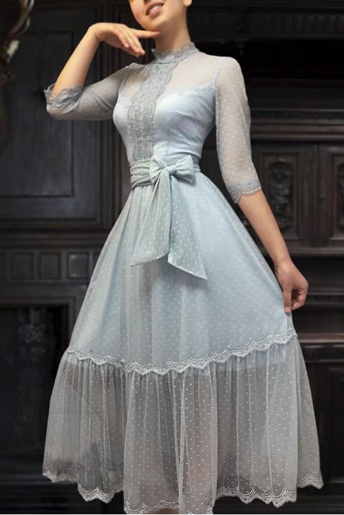 Платье Анжелика (Голубой)