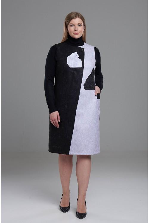 Платье Арлет ( Черная и белая кошки)