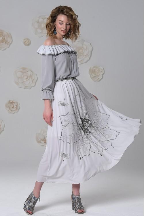 Платье Азалия (Белый цветок)
