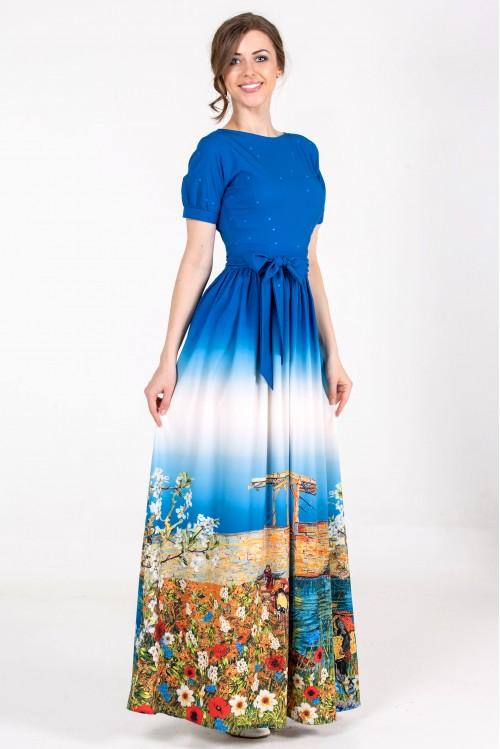 Платье Бабочка Лето (Цветы у моря)