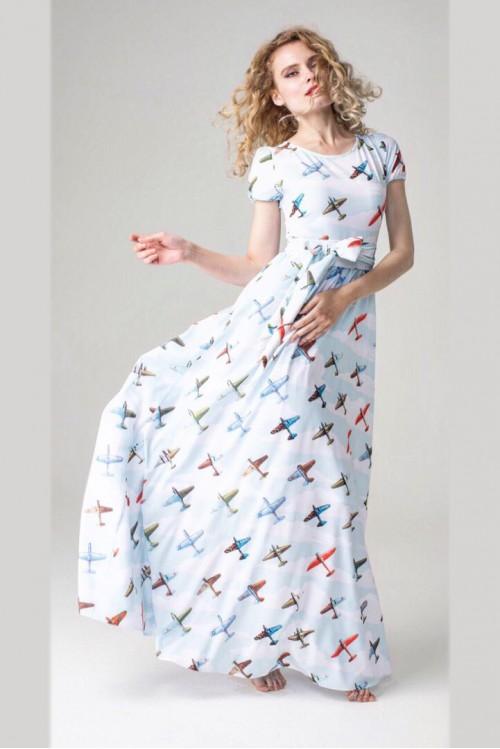 Платье Бабочка Лето (Самолеты)