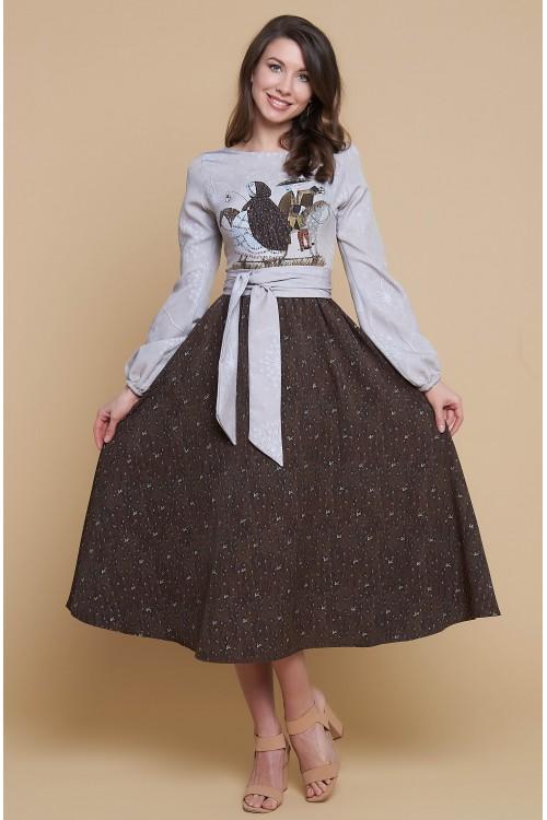 Платье Бабочка ( Деревянные лошадки ) из вискозы и тенселя