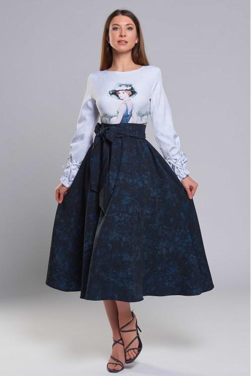 Платье Бабочка (Дама в черной шляпе)