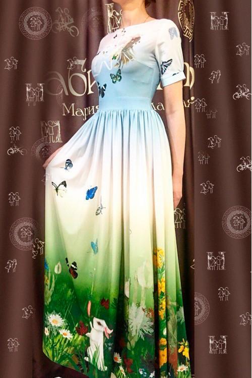 Платье Екатерина (Небо и земля)